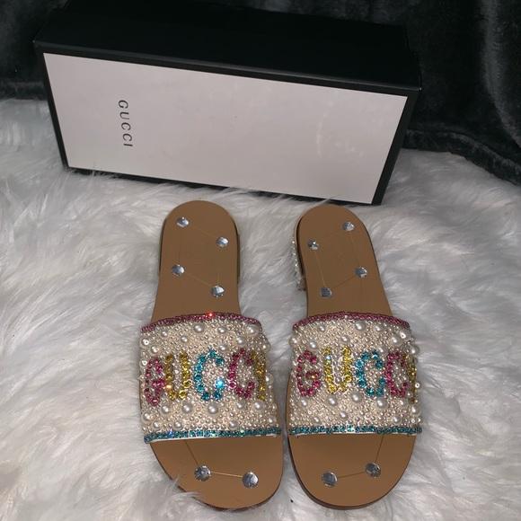79ae11a7c304 Gucci embellished sandals